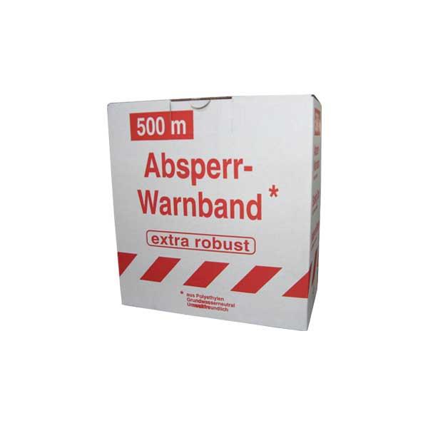 """ABSPERRBAND bedruckt mit """"GESPERRT"""", beidseitig rot/weiß, 80mm x 500m"""