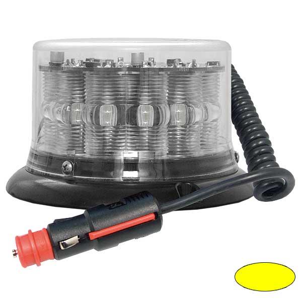 IMPACT LP, 10-30VDC, Warnfarbe gelb, klare Haube, Magnethalterung