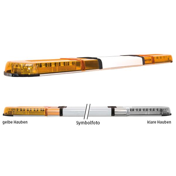 XPERT 4PRO-2PROM-2PROM, L=141cm, 10-30VDC, Warnfarbe gelb, Haubenfarbe klar, Schild 48cm (12 o.24VDC)