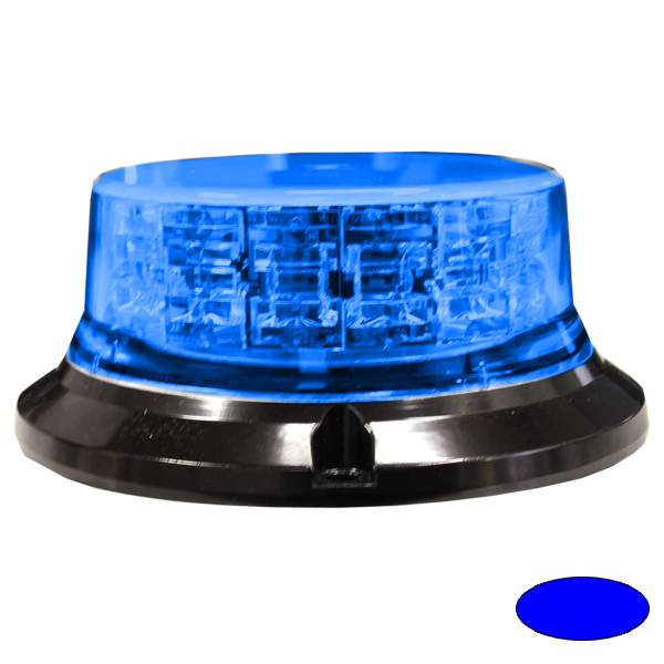SERIE 149 LED-Kennleuchte, 10-30VDC, Warn-u.Haubenfarbe Blau, 3-Lochbefestigung
