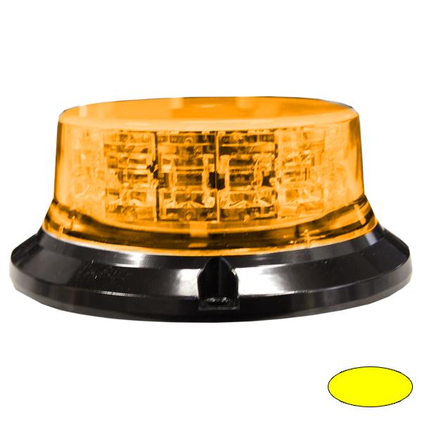 SERIE 149 LED-Kennleuchte, 10-30VDC, Warn-u.Haubenfarbe Gelb, 3-Lochbefestigung