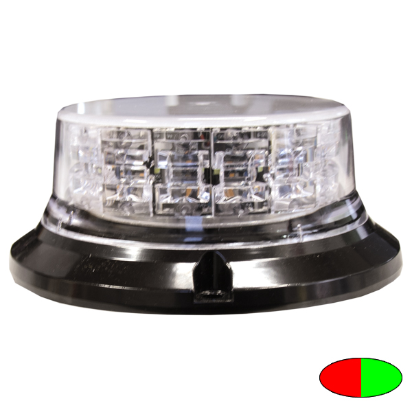 SERIE 149 LED-Kennleuchte, 10-30VDC, Warnfarben Rot/Grün, 3-Lochbefestigung