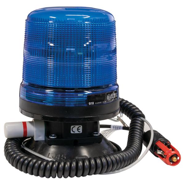 LED-Kennleuchte WB18, 10-30VDC, Warn-u.Haubenfarbe blau, Vakuum-Montage