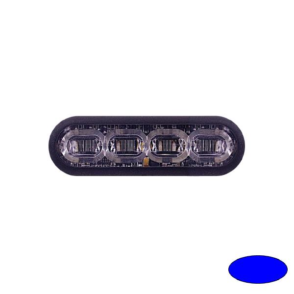 LED-Blitzleuchte mPOWER3, 10-30VDC, Warnfarbe Blau, Klebe-Montage