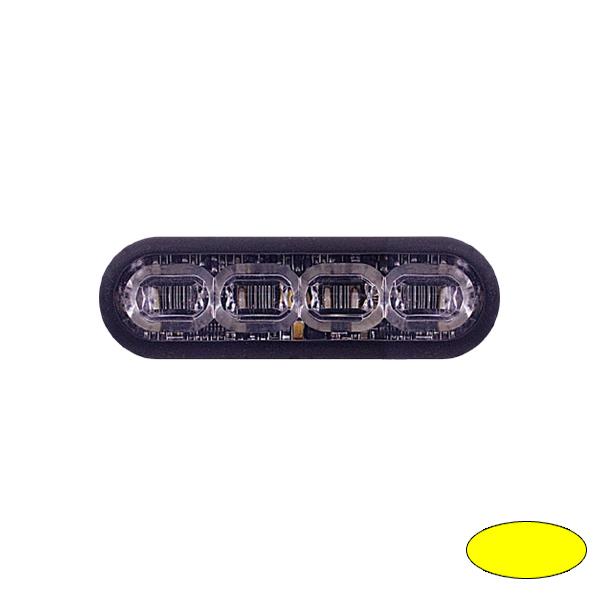 LED-Blitzleuchte mPOWER3, 10-30VDC, Warnfarbe Gelb, Gewindebolzen-Montage