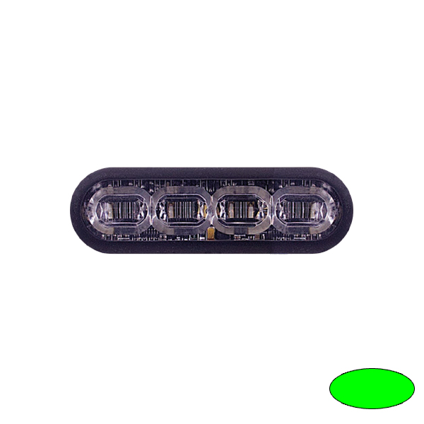 LED-Blitzleuchte mPOWER3, 10-30VDC, Sonderfarbe Grün, Gewindebolzen-Montage