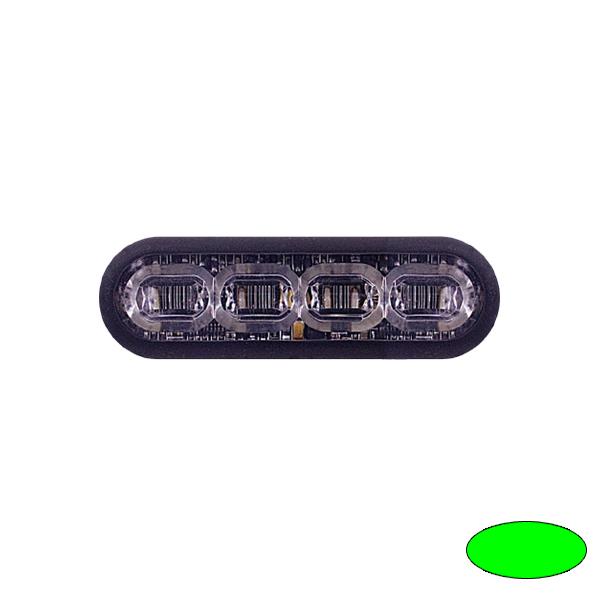LED-Blitzleuchte mPOWER3, 10-30VDC, Sonderfarbe Grün, Klebe-Montage