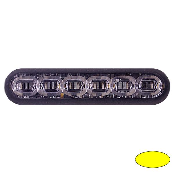 LED-Blitzleuchte mPOWER4, 10-30VDC, Warnfarbe Gelb, Gewindebolzen-Montage