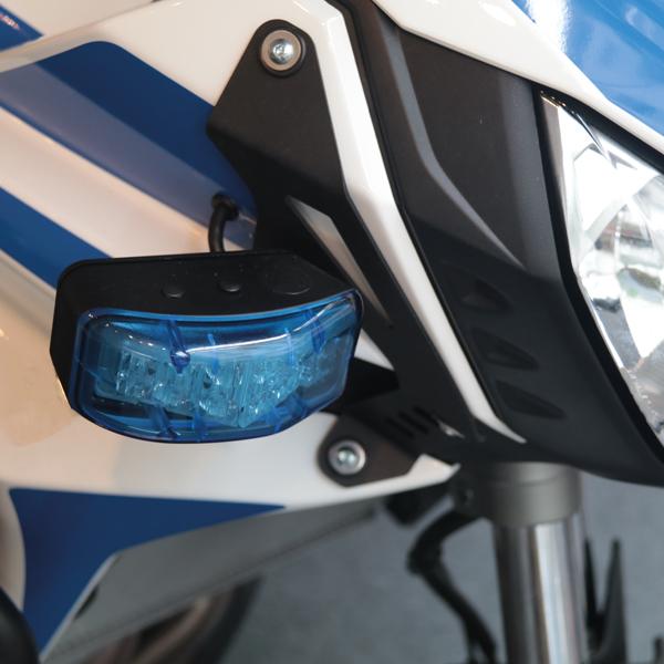 Motorrad-Warnanlage KIT-MOTO Typ POLIZEI-AT, Einsatzton Polizei-AT