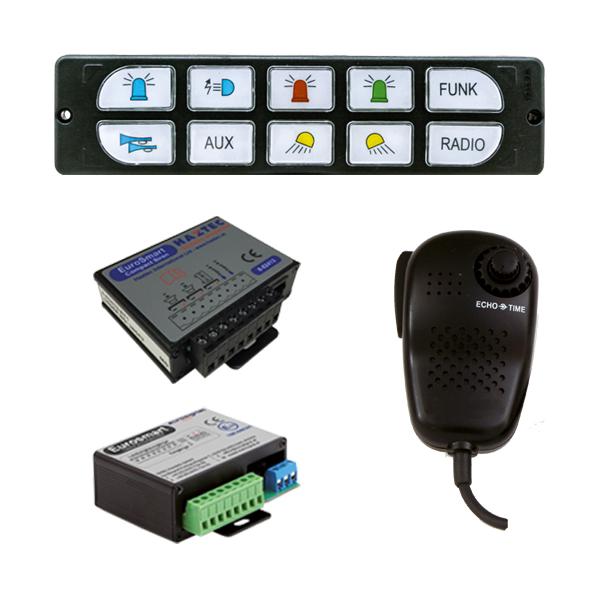 EUROSMART COMPACT Bedien-, Akustik- u. Leistungssystem, 10-30VDC, Version E2, Österreich
