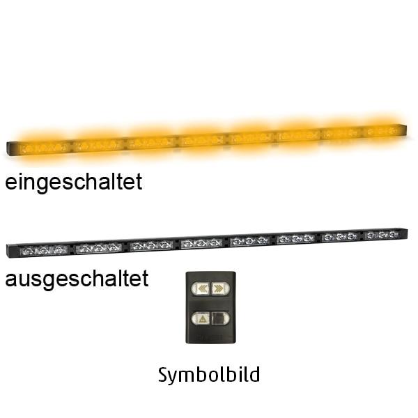 TRAFLED10, L=110cm, 10-30VDC, Warnfarbe gelb, 10x gelbe LED-Module, inkl. Bedienteil