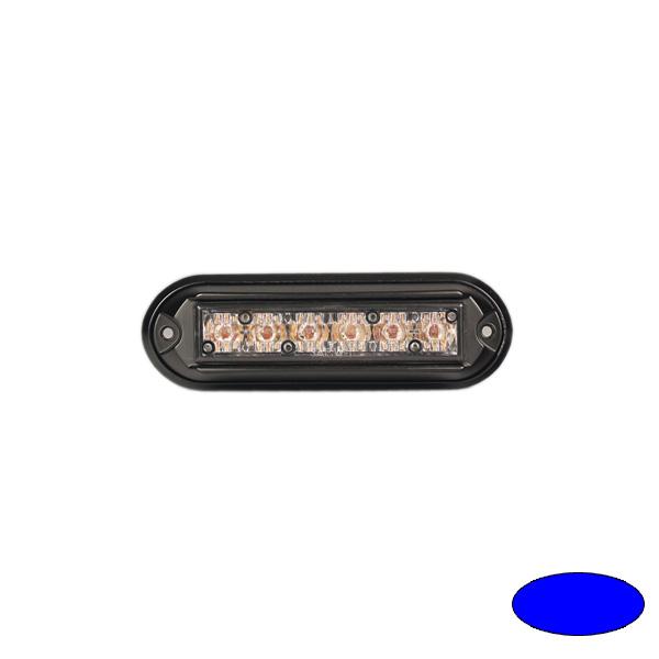 GHOST, 10-30VDC, Warnfarbe blau, schwarzes Gehäuse, Aufbaubefestigung