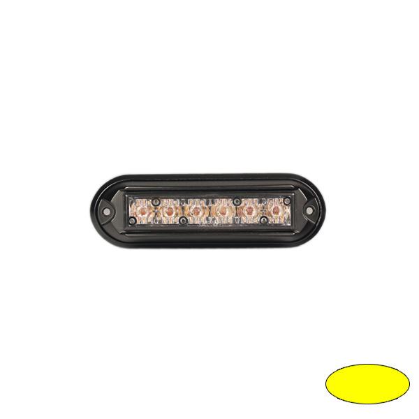 GHOST, 10-30VDC, Warnfarbe gelb, schwarzes Gehäuse Aufbaubefestigung