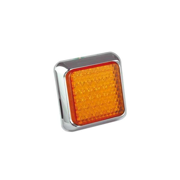 80CAME LED-Fahrtrichtungsanzeiger, Montagerahmen chrom