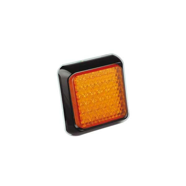 100AME LED-Fahrtrichtungsanzeiger, 10-30VDC, Montagerahmen schwarz