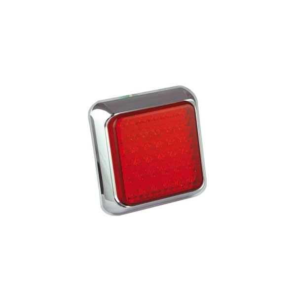 80CRME LED-Kombileuchte, Stop-/Schlusslicht, Montagerahmen chrom