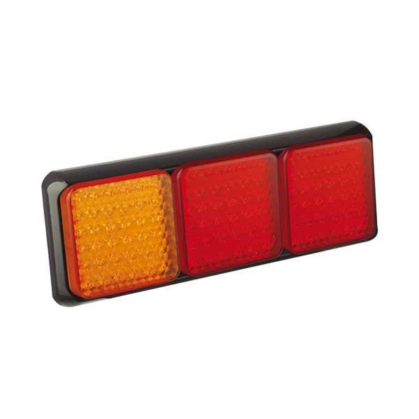 100BARRME LED-Leuchtenkombination, Stop/Schlusslicht/Fahrtrichtungsanzeiger, Montagerahmen schwarz