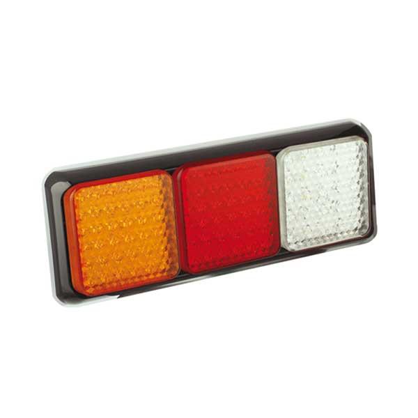 100BRAWME LED-Leuchtenkombination, Stop/Schlussl./Fahrtrichtungsanz./Retourscheinw., Montager. schwarz