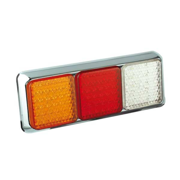 125CRAWME LED-Leuchtenkombination, Stop/Schlussl./Fahrtrichtungsanz./Retourscheinw., Montager. chrom