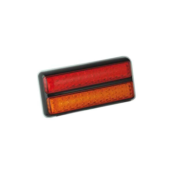 200BARME LED-Leuchtenkombination, Stop/Schlusslicht/Fahrtrichtungsanzeiger, Montagerahmen schwarz