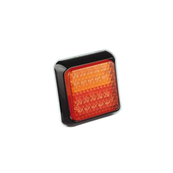 100BSTIME LED-Mehrkammerleuchte, Stop-/Schlussl./Fahrtrichtungsanz., 10-30VDC, Montagerahmen schwarz