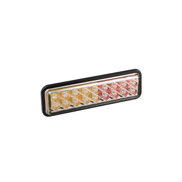 135ARMGE LED-Mehrkammerleuchte, Stop-/Schlussl./Fahrtrichtungsanz., Einbau, Montagerahmen schwarz