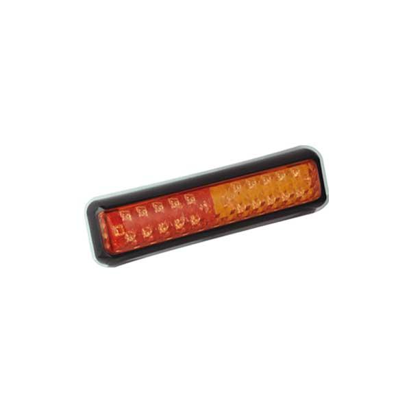 200BSTIME LED-Mehrkammerleuchte, Stop-/Schlusslicht/Fahrtrichtungsanzeiger, Montagerahmen schwarz