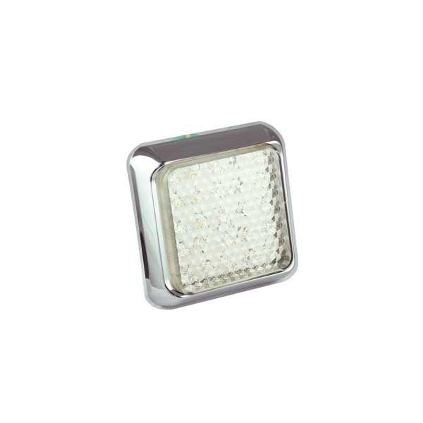 125CWME LED-Retourscheinwerfer, Montagerahmen chrom
