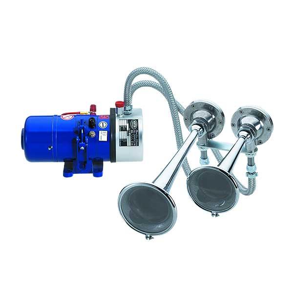 2097GM, 12VDC, Sondersignal DIN14610, Set aus Kompressor und 2 Fanfaren