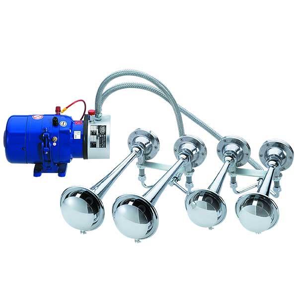 2298GM, 24VDC, Sondersignal DIN14610, Set aus Kompressor und 4 Fanfaren