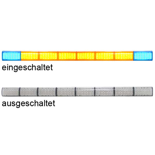 LED-TRAFFICMASTER WARNING BAR, 12VDC, ohne Steuergerät für Elektroniksirene Eurosmart Gen2