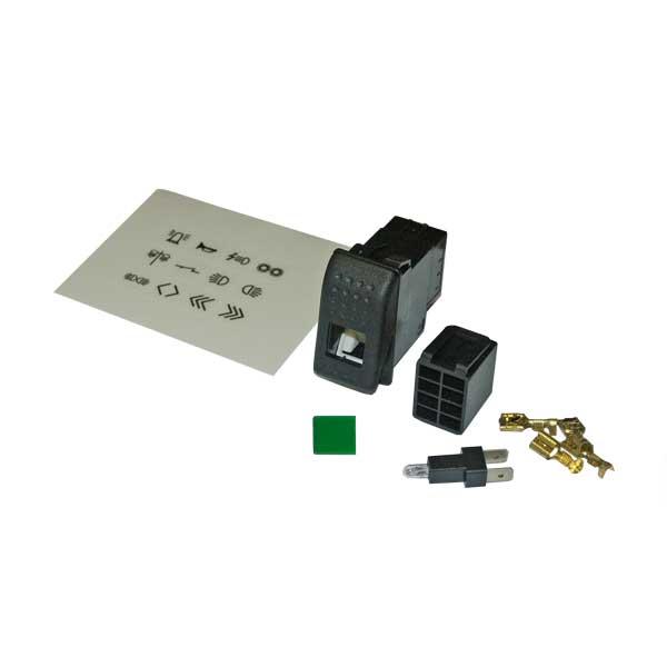 Wippschalter-Set, Symbolscheibe grün