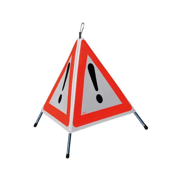 """FALTSIGNAL, Höhe 90cm, normale Ausführung, 3x Symbol für """"Andere Gefahren 1.30"""""""