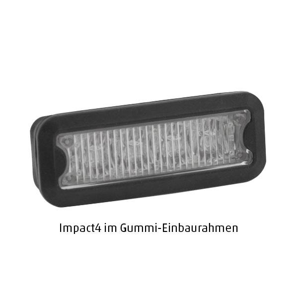Einbaurahmen aus Gummi für IMPACT4, Farbe schwarz