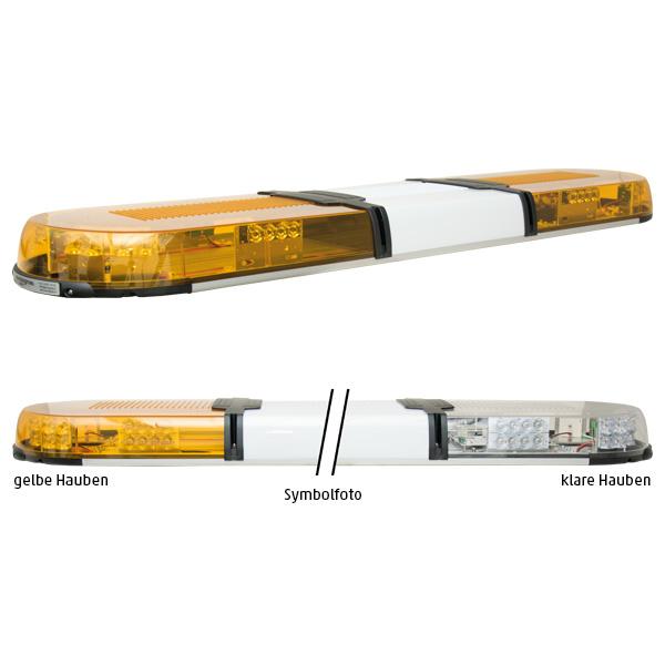 XPERT 4PRO-4PF-4PF, L=123cm, 10-30VDC, Warnfarbe gelb, Haubenfarbe klar, Schild 30cm (12 o.24VDC)