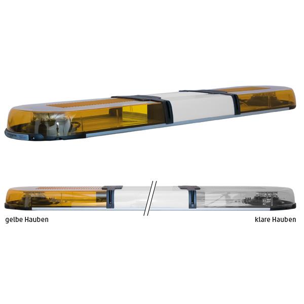 XPERT 2ELP360, L=123cm, 10-30VDC, Warnfarbe gelb, Haubenfarbe klar, Schild 30cm (12 o.24VDC)