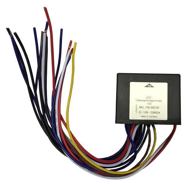 Modul zur Funktionsüberwachung der Eckmodule, 24VDC, installiert im Warnbalken