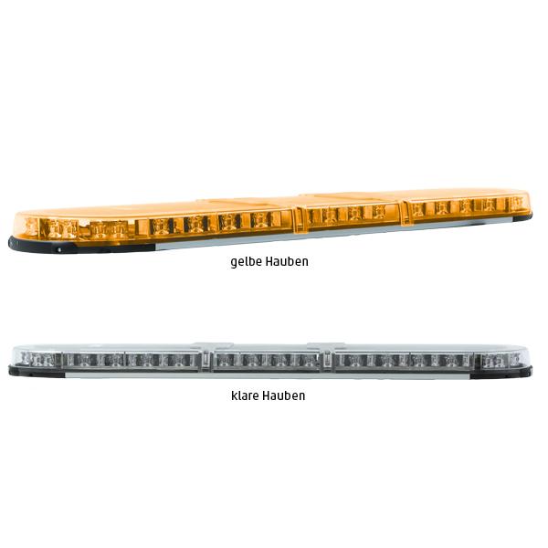 XPERT-LP 4PRO-2PROM-2PROM, L=141cm, 10-30VDC, Warnfarbe gelb, Haubenfarbe klar