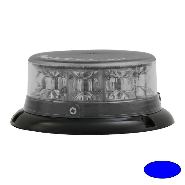 IMPACT ELP, 10-30VDC, Warnfarbe blau, Haubenfarbe klar, 3-Lochbefestigung