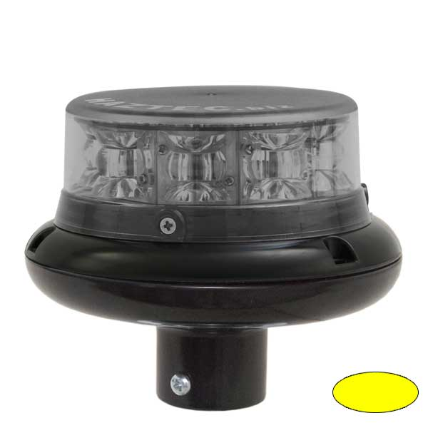 IMPACT ELP, 10-30VDC, Warnfarbe gelb, Haubenfarbe klar, DIN-A Stecksockel