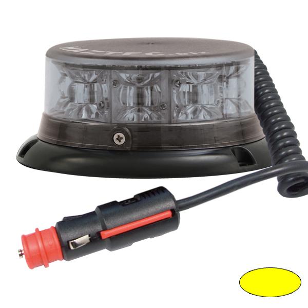 IMPACT ELP, 10-30VDC, Warnfarbe gelb, Haubenfarbe klar, Magnethalterung