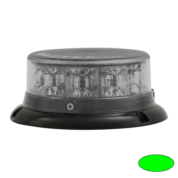 IMPACT ELP, 10-30VDC, Sonderfarbe grün, Haubenfarbe klar, 3-Lochbefestigung