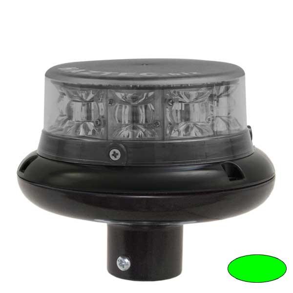 IMPACT ELP, 10-30VDC, Sonderfarbe grün, Haubenfarbe klar, DIN-A Stecksockel