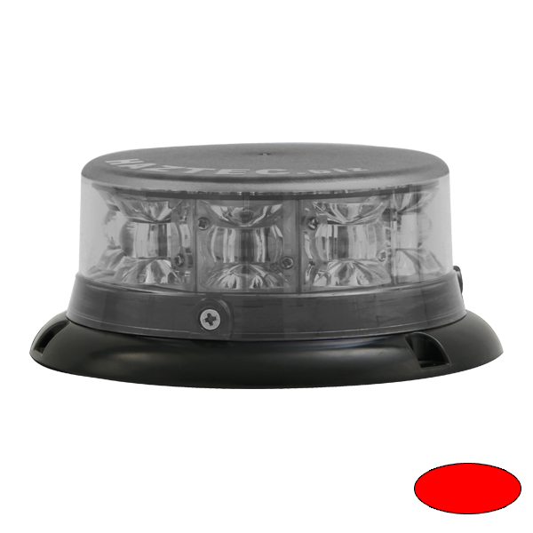 IMPACT ELP, 10-30VDC, Sonderfarbe rot, Haubenfarbe klar, 3-Lochbefestigung