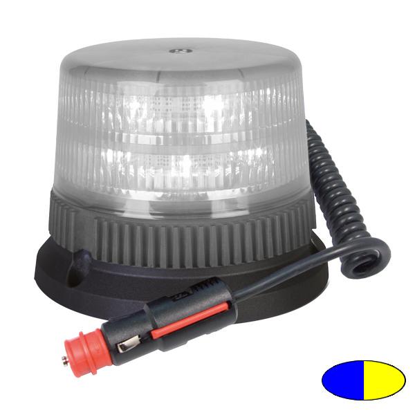 FLEX TWICE 6+6 T2, 12VDC, Warnfarben blau/gelb, Magnethalterung