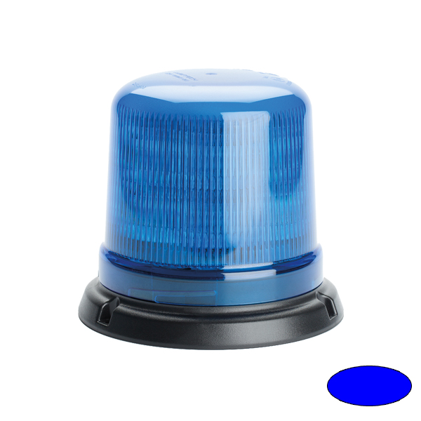 SERIE 515 LED-Kennleuchte, 10-30VDC, Warn-u.Haubenfarbe blau, 3-Lochbefestigung