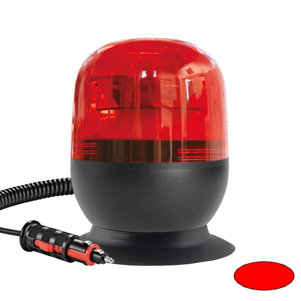 EUROROT-LED MV, 10-30VDC, Sonder-u.Haubenfarbe rot, Magnethalterung