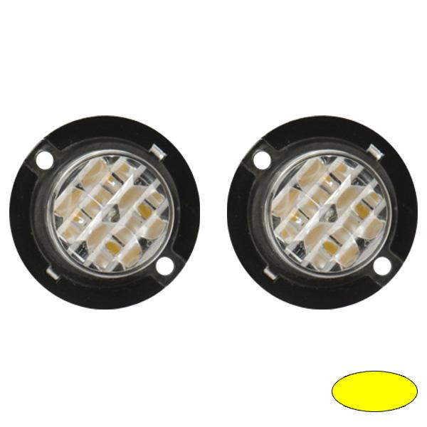 4-2420, Garnitur aus 2 Stück, 10-30VDC, Warnfarbe gelb