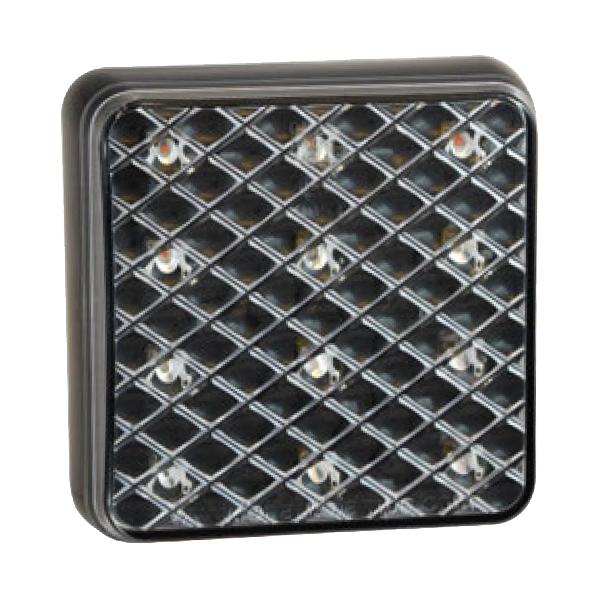 81STIME LED-Mehrkammerleuchte, Stop-/Schlusslicht/Fahrtrichtungsanzeiger, Montagerahmen schwarz