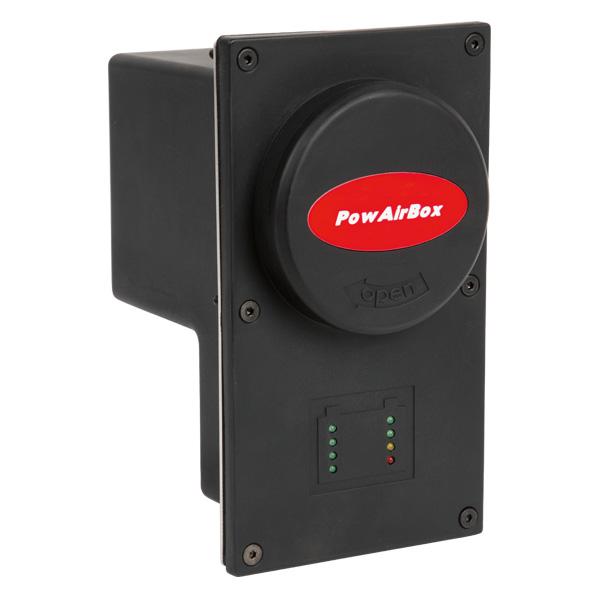PowAirBox Einspeisesystem-Fahrzeugseite, für Versorgung 230VAC+Druckluft, Selbstauswurffunktion